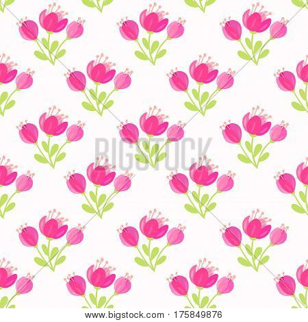 beautiful seamless pattern with gentle flowers. Vector illustration. Spring bouquet flowers.