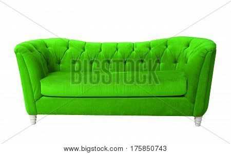 A green light furniture isolated with clipping path