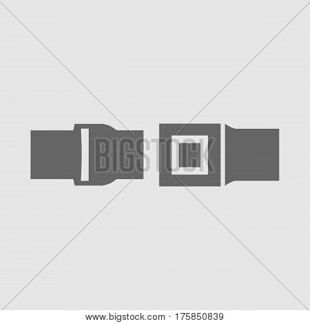 Seat belt vector icon eps 10. Car safety symbol.
