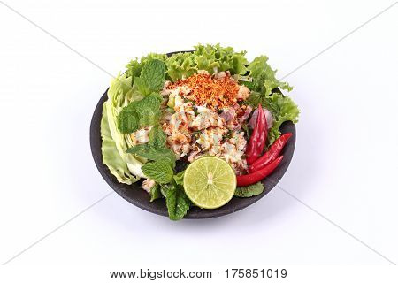 Spicy Sour Crab Salad With Vegetable ,call Lab Poo.
