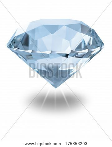 Gemstone close-up on a white isolated background