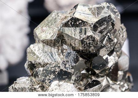 Sphalerite Pyrite mineral fools gold black shiny