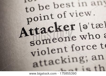 Fake Dictionary Dictionary definition of the word attacker.