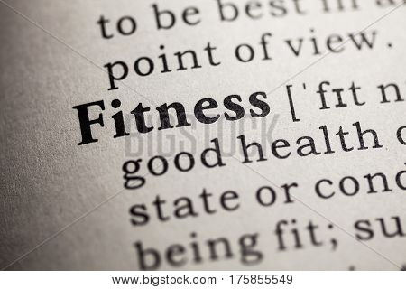 Fake Dictionary Dictionary definition of the word fitness.