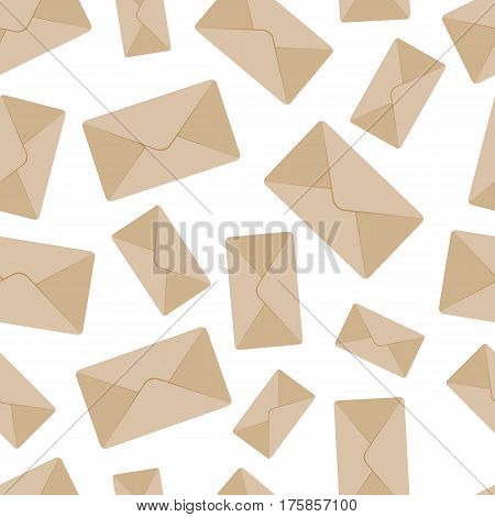 Seamless envelope pattern on white background eps 10