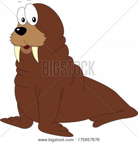 Cartoon Walrus For Babies And Little Kids