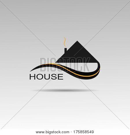 House buy symbol graphics mansion logo tape