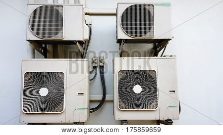 Air Compressor and background air cool .