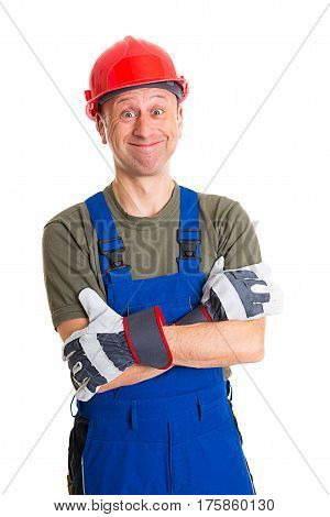 Workman With Helmet