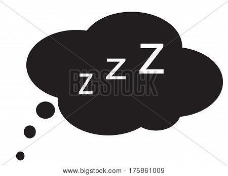 sleep icon on white background. sleep sign.