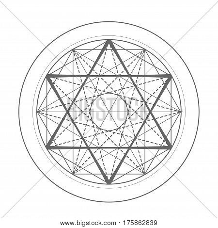 sacred geometry symbol. David star vector illustration