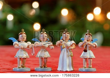 Christmas Concert with Four Angels Making Music