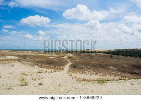 A Path At The Dune Of Nida At Curonian Spit And A Border Between Lithuania And Russia.