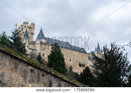 Alcazar Of Segovia, A Castle And A Residence Of Kings Of The Medieval Epoch, Castile And Leon, Spain