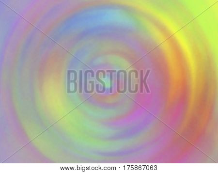 Optical illusion of radial blur effect. Abstract background. Colorful shades. Visual illusion of oil paintings. Vector EPS10. Not trace image, include mesh gradient only