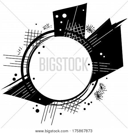 vector abstract frame in black and white