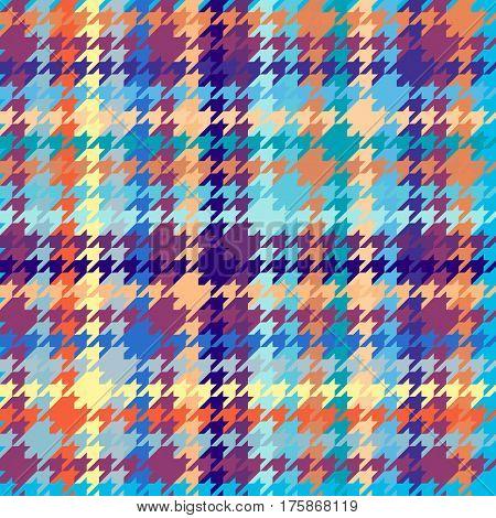 Seamless geometric pattern. Plaid pattern of classic Hounds-tooth pattern.