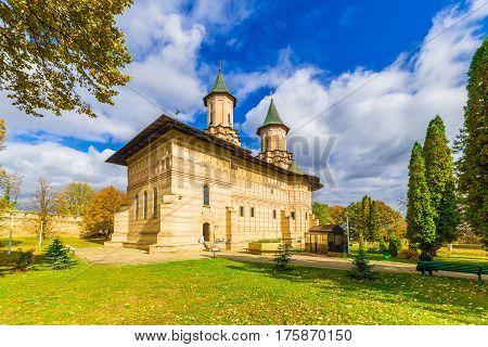 Galata monastery in Iasi city, Moldavia Romania.