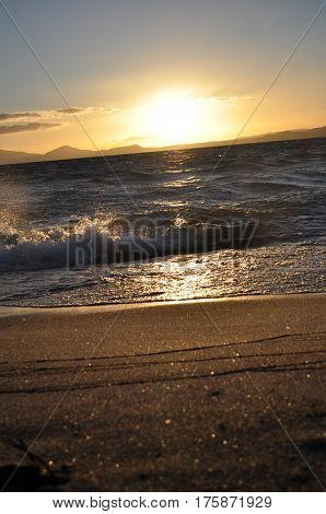 Lake Taupo At Sunset