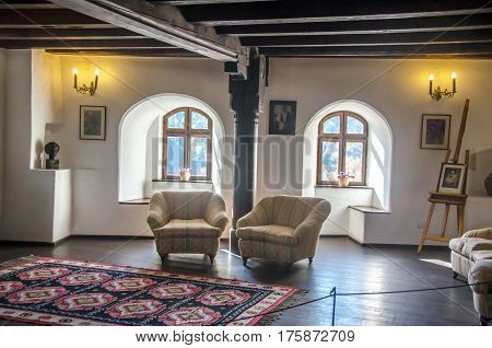 Bran, Romania - November 2, 2012. The Bran Castle, Dracula Castle, Inside Room
