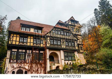 Sinaia, Romania - November 1, 2012. The Pelisor Castle, Autumn Time
