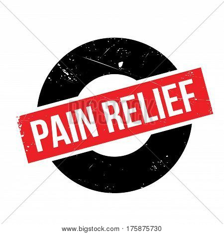 Pain Relief rubber stamp. Grunge design with dust scratches. Effects can be easily removed for a clean, crisp look. Color is easily changed.