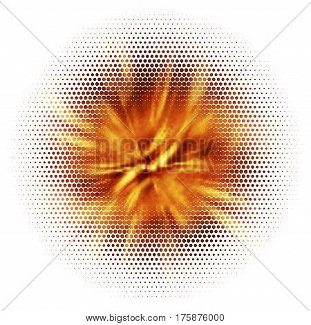 Abstract lava explosion. Blurry flame, energetic flow. Colorful shades. Visual illusion of oil paintings. Vector EPS10. Not trace image, include mesh gradient only