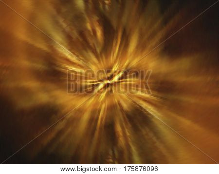 Abstract lava explosion. Blurry flame, energetic flow. Colorful shades. Visual illusion of oil paintings. Vector EPS10 with mesh gradient.