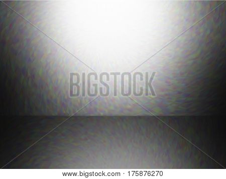 Vector EPS10. Empty room. Abstract background with iridescent gradient. Colorful noise, special effect. Colorful shades. Visual illusion of oil paintings. Not trace image, include mesh gradient only