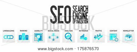SEO Search Engine Optimization Website Banner Homepage Online Marketing