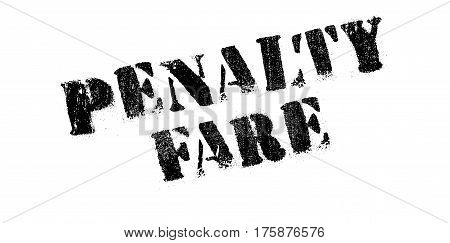 Penalty Fare rubber stamp. Grunge design with dust scratches. Effects can be easily removed for a clean, crisp look. Color is easily changed.