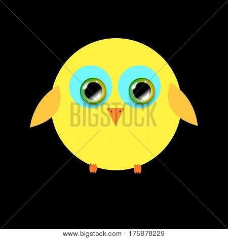 funny cute furry animal vector bird illustration cartoon background art happy
