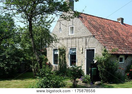 Netherlands Ameland Bure njuly 2016:Typical houses of Ameland