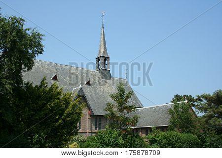Netherlands Ameland Buren july 2016: church building