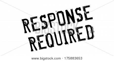 Response Required rubber stamp. Grunge design with dust scratches. Effects can be easily removed for a clean, crisp look. Color is easily changed.