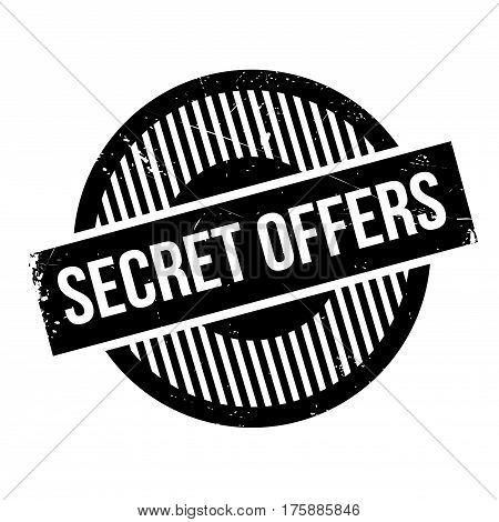 Secret Offers rubber stamp. Grunge design with dust scratches. Effects can be easily removed for a clean, crisp look. Color is easily changed.