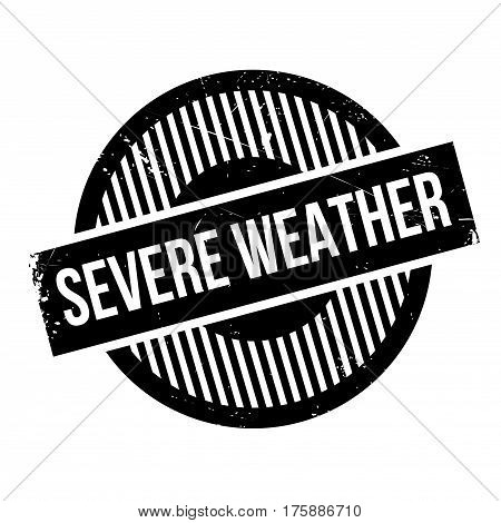 Severe Weather rubber stamp. Grunge design with dust scratches. Effects can be easily removed for a clean, crisp look. Color is easily changed.