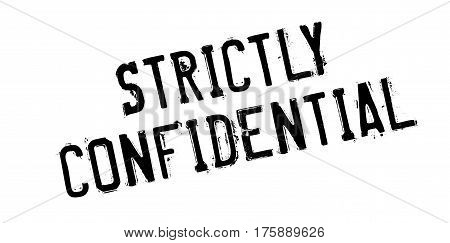 Strictly Confidential rubber stamp. Grunge design with dust scratches. Effects can be easily removed for a clean, crisp look. Color is easily changed.