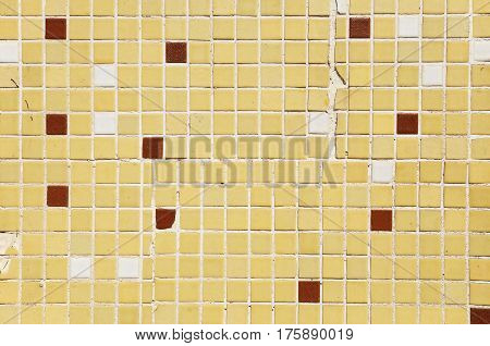 Multi colored small square tiles abstract pattern background
