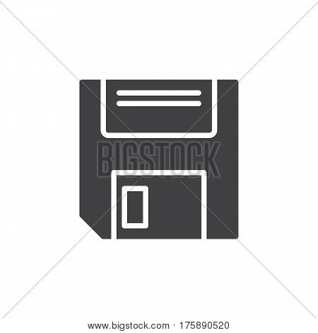 Floppy disk icon vector filled flat sign solid pictogram isolated on white. Save symbol logo illustration. Pixel perfect