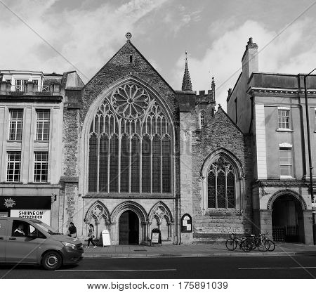 Lord Mayor Chapel In Bristol In Black And White