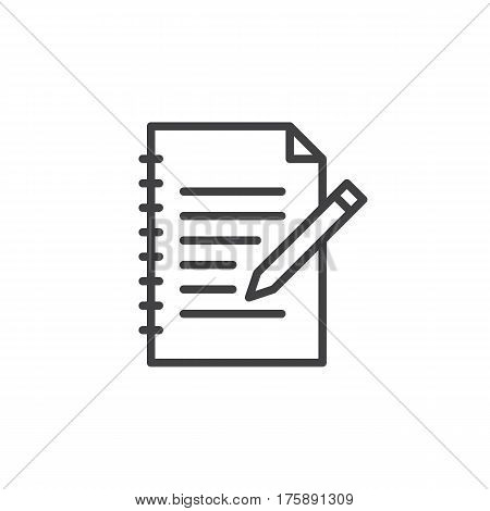Fill in form line icon outline vector sign linear style pictogram isolated on white. Edit symbol logo illustration. Editable stroke. Pixel perfect