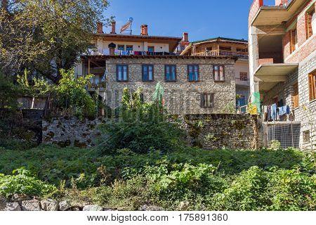 METSOVO, EPIRUS, GREECE - OCTOBER 19 2013: Panoramic view of village of Metsovo near city of Ioannina, Epirus Region, Greece