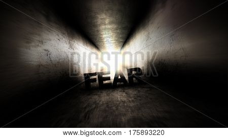 Fear in the dark corridor. Bright light at the end of the tunnel.