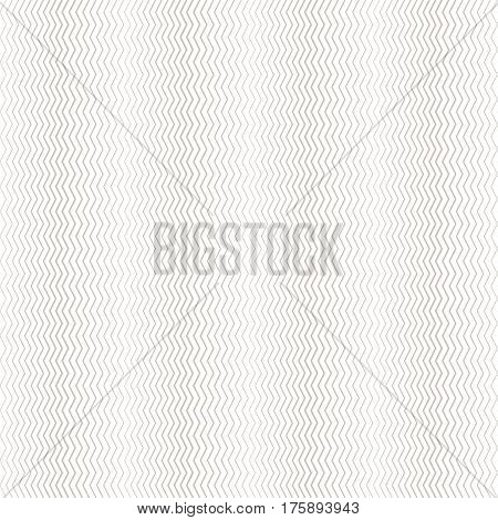 Seamless pattern. Simple linear texture in the form of a zigzag waves. Repeating geometric shapes thin zigzag lines of the increasing and decreasing thickness. Halftone effect. Vector abstract background.