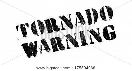 Tornado Warning rubber stamp. Grunge design with dust scratches. Effects can be easily removed for a clean, crisp look. Color is easily changed.