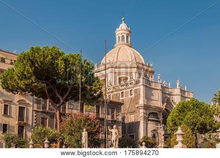 Cathedral Of Santa Agatha Or Catania Duomo In Catania