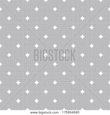 Vector seamless pattern. Abstract small textured background. Modern stylish texture with dots. Regularly repeating geometrical ornament with dotted grids rhombuses. Wrapping paper