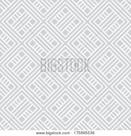Vector seamless pattern. Modern stylish texture. Regularly repeating geometrical ornament with rhombuses diamonds. Classical background with rhombus tiles.