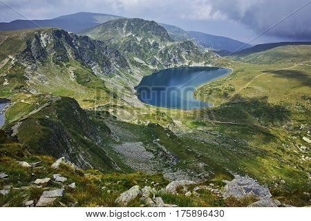 Amazing Landscape of The Kidney lake, The Seven Rila Lakes, Bulgaria